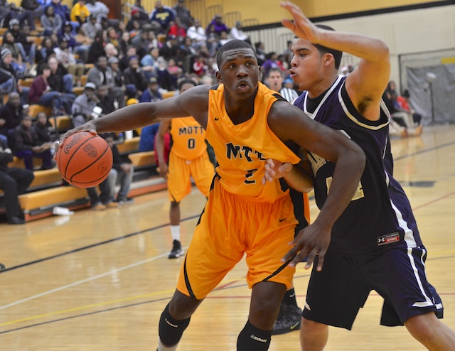 Mott freshman Coreante DeBerry scored 12 points with seven rebounds and two blocks in Mott's 71-47 win over Lansing Wednesday night.
