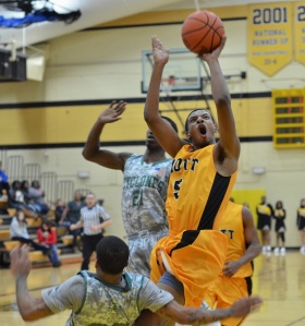 Freshman Devin Foster had 11 points, five rebounds and four assists in Mott's win over no. 8-ranked Moraine Valley Saturday night.
