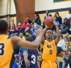 Mott sophomore Malik Albert's 34 points were not enough against St. Clair Wednesday night.