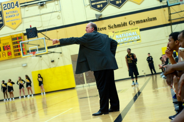 Mott's Steve Schmidt coached his program to its 19th consecutive 25-win season on Tuesday night.