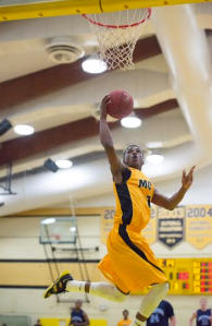 Mott freshman Justice Green scored 13 points Tuesday night at home against Owens.